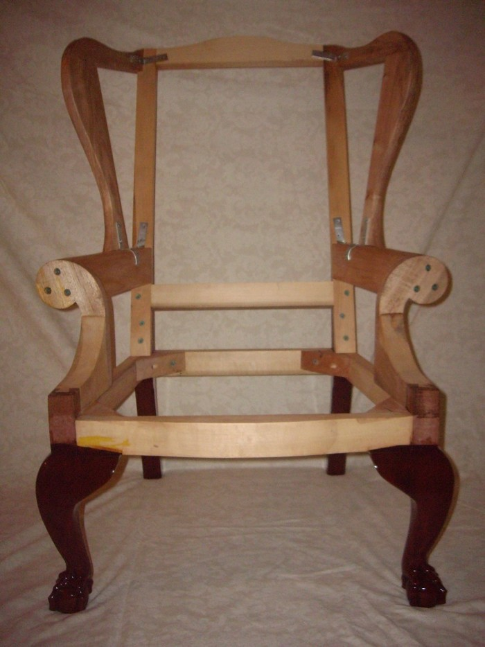 Miniature(childrens) Size Wing Chair Frame With Philadelphia Style Ball And  Claw Foot. Made From Mahogany, Soft Maple(secondary), And Poplar(secondary).