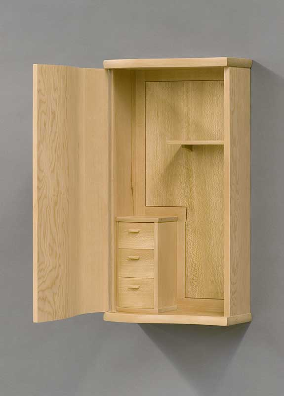 Merveilleux Alaskan Hemlock Wall Cabinet. Quartersawn Sycamore Back Panel. Finished  With Shellac And Goddardu0027s Wax.