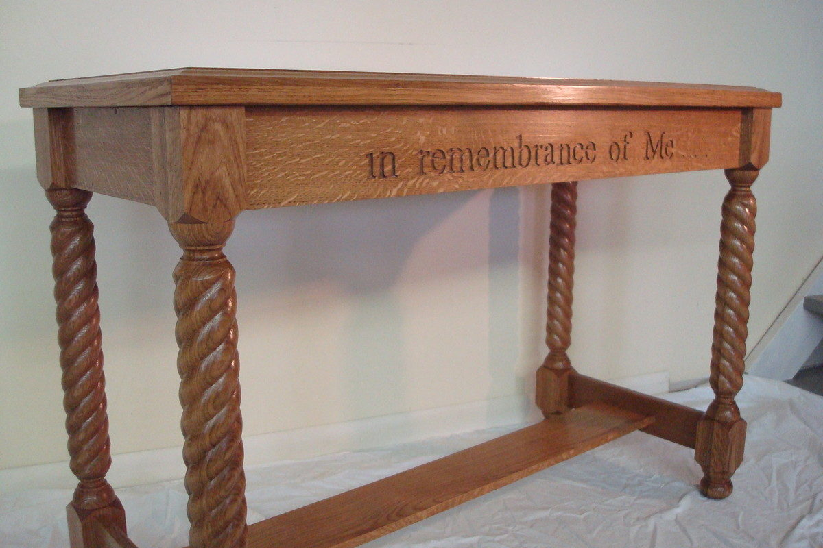 communion table - finewoodworking