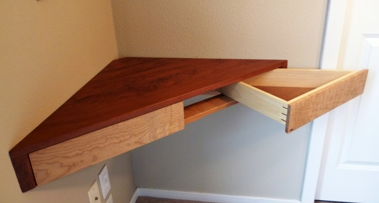 Floating Corner Shelf With Drawers - FineWoodworking