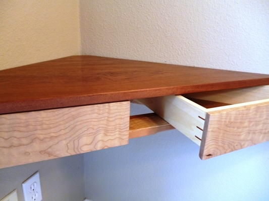 Floating Corner Shelf With Drawers FineWoodworking
