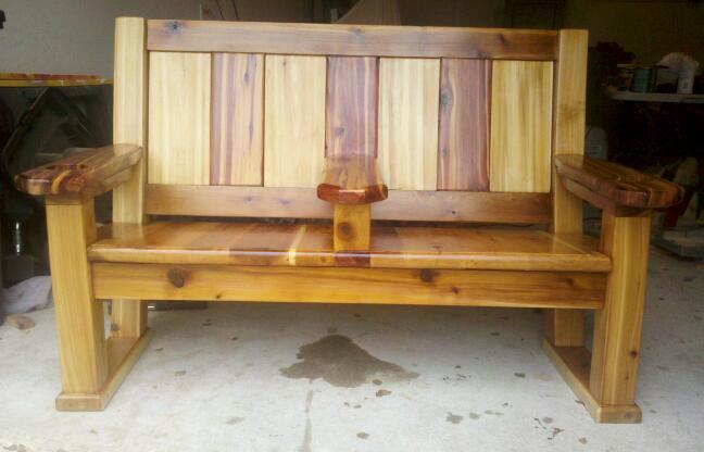 Admirable Cedar Double Bench Chair Finewoodworking Creativecarmelina Interior Chair Design Creativecarmelinacom