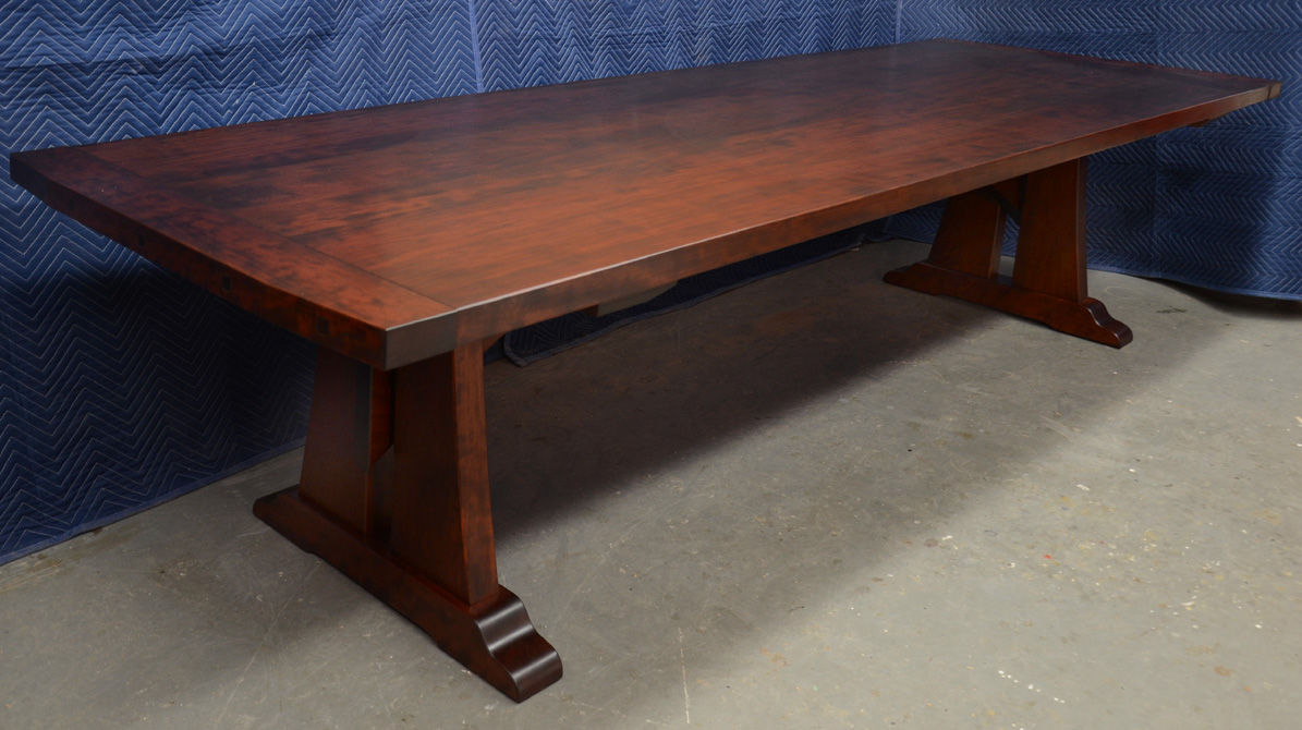 A Custom Cherry Trestle Table Finewoodworking