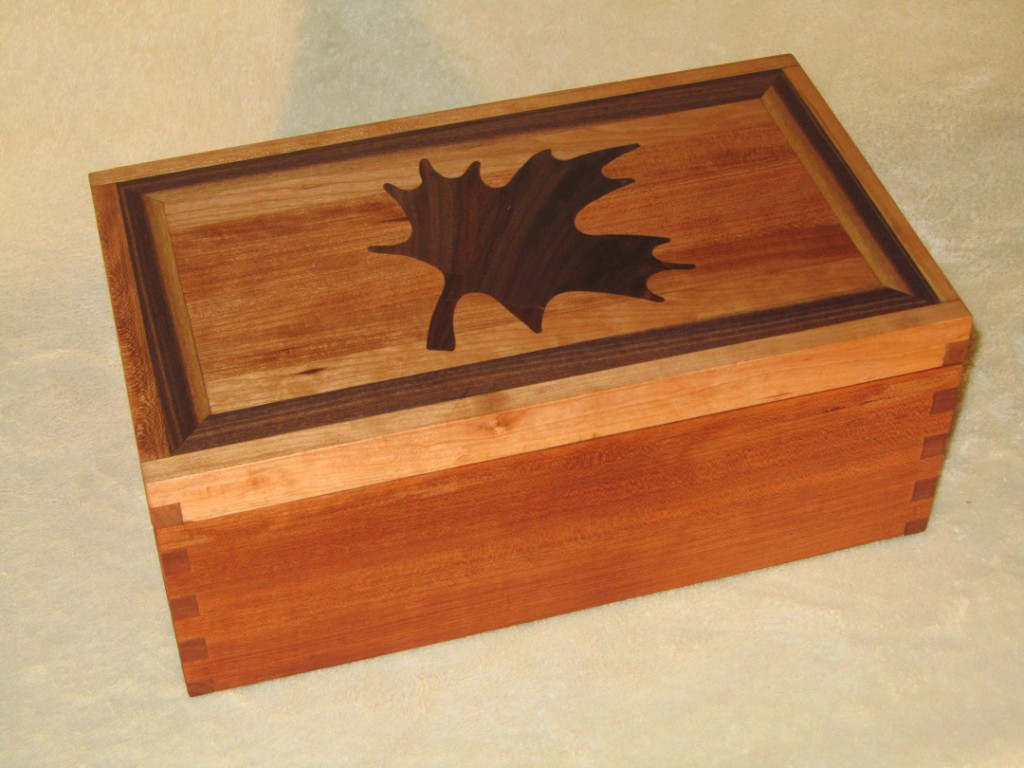 Cherry Box With Maple Leaf Inlay Finewoodworking