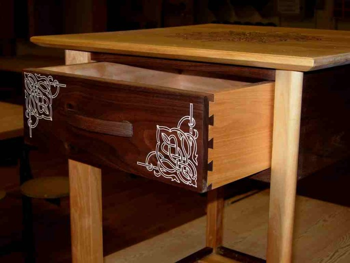 Epoxy Inlay End Table Finewoodworking
