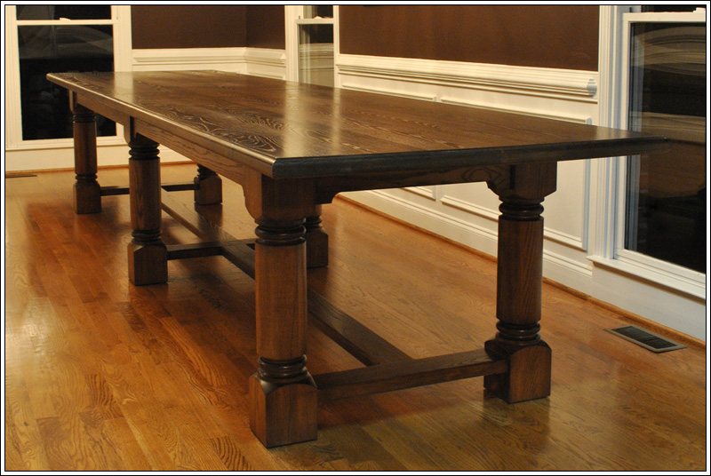 Solid Ash Refectory Table Finewoodworking