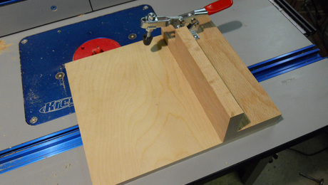 Router table tenoning sled finewoodworking greentooth Images