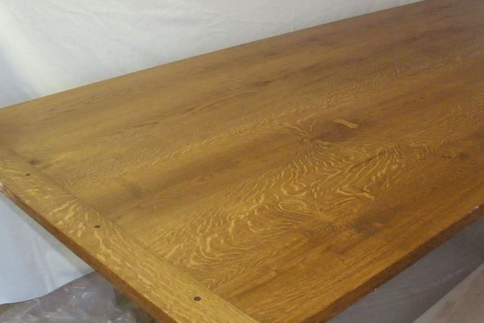 TRESTLE TABLE FineWoodworking - Red oak table top