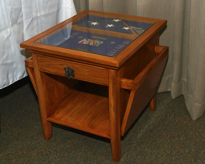 militaryretirement shadow box table - finewoodworking