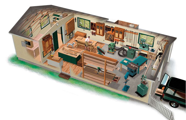 Ultimate garage workshop finewoodworking for Ultimate garage plans