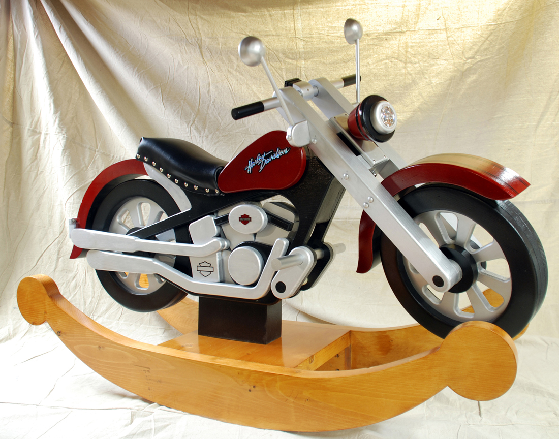 Motorcycle rocker finewoodworking for Woodworking plan for motorcycle rocker toy