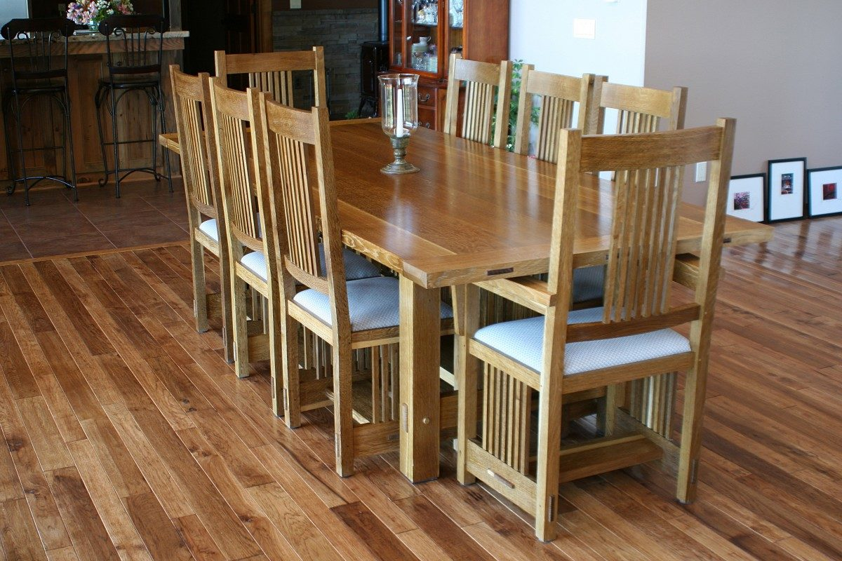 Stickley Dining Room Table & Chairs - FineWoodworking