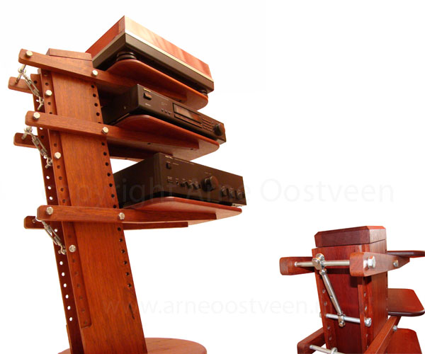 Audio furniture 'crane' - FineWoodworking