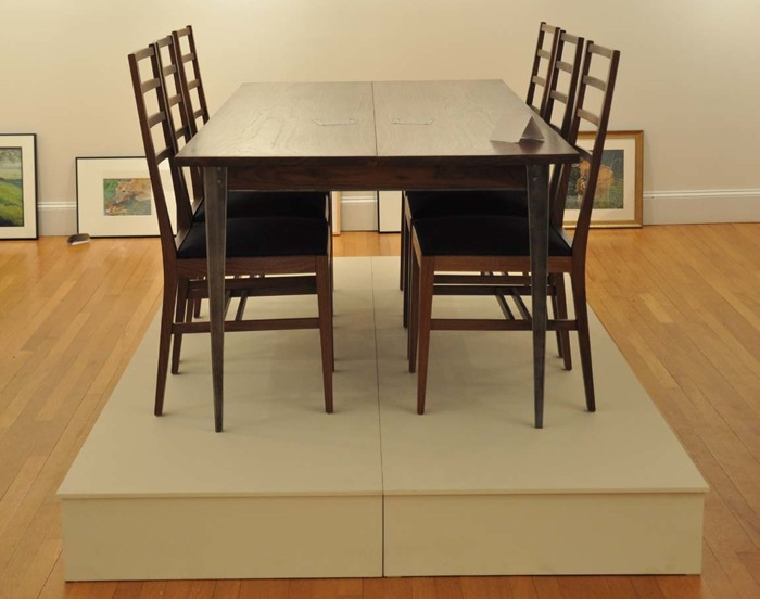 A Table And Chairs From Our U0027Bethlehem Steelu0027 Series