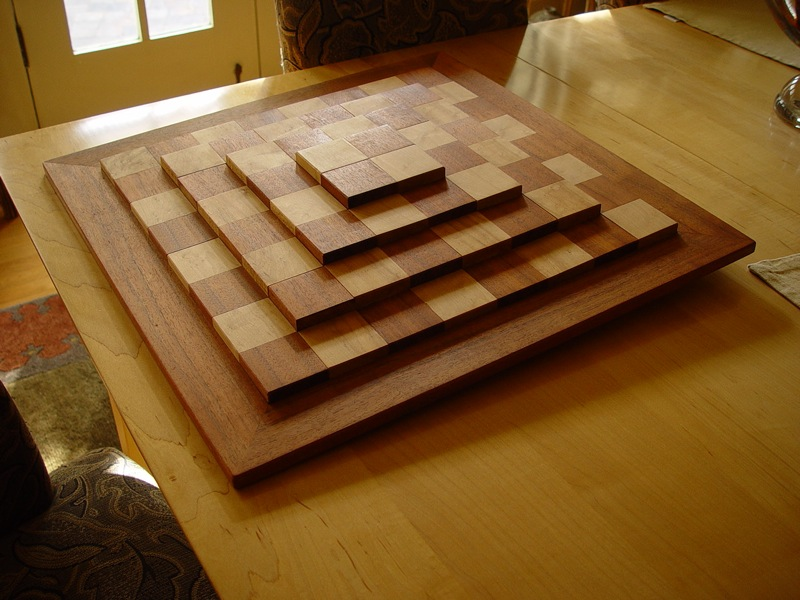 3D Chess Board FineWoodworking