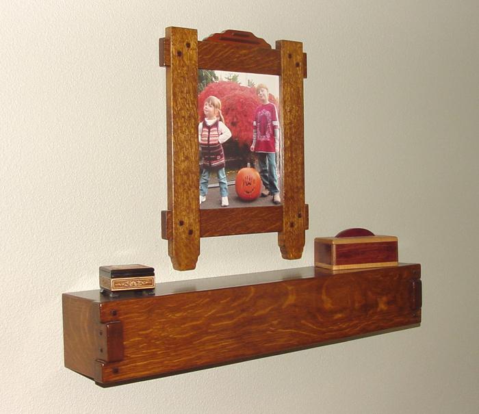Oak Frame Project Gallery In 2019: Craftsman Frame And Shelf Combination In Oak