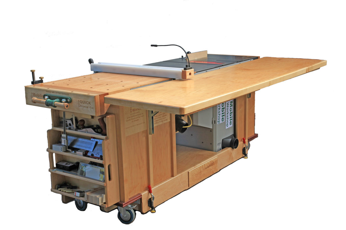Ekho Mobile Workshop Portable Cabinet Saw Work Bench And Router