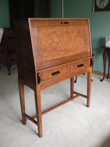 Drop Front Desk >> A Cherry Drop Front Desk Finewoodworking