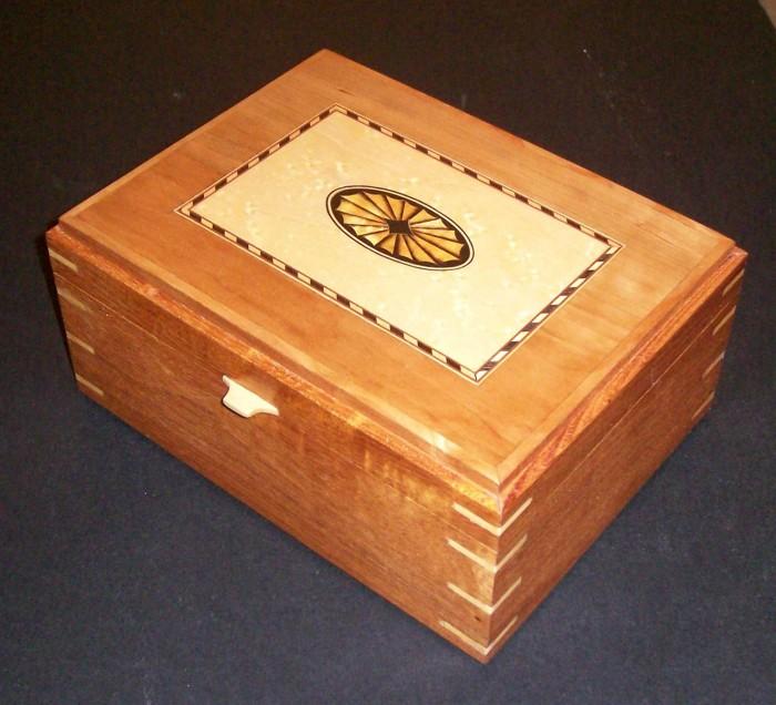 Tea Box Oval Inlay Finewoodworking