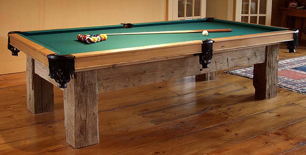 Build your own pool table finewoodworking for Pool table woodworking plans