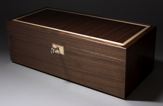 Walnut jewellery box with concealed drawers FineWoodworking