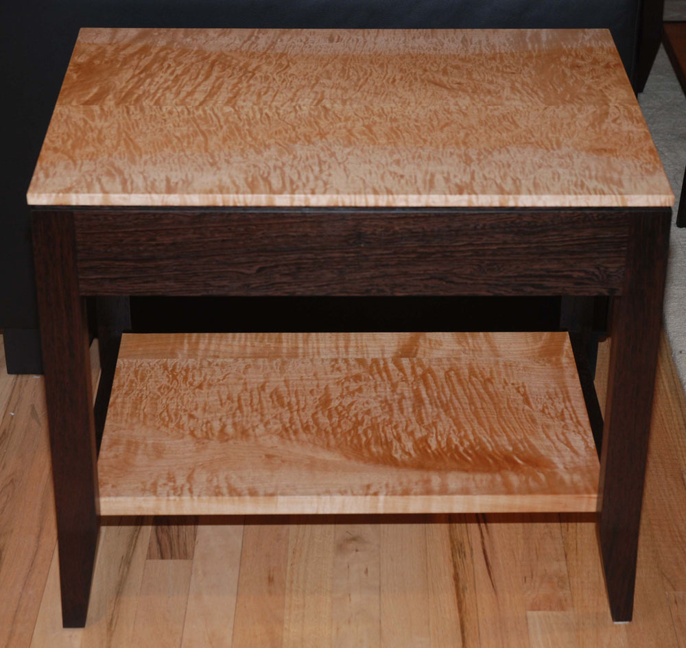 Wenge U0026 Quilted Maple Table Side