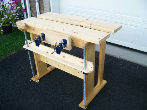 Small New Fangled Workbench Finewoodworking