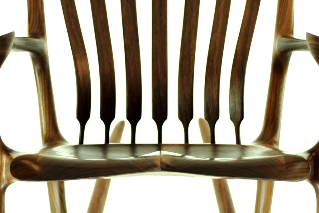 Rockign Chair Back Brace Detail, Zebrawood