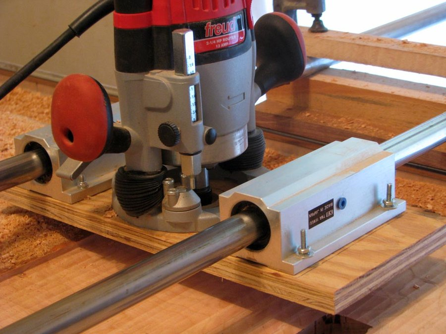 Router Jig To Flattten Large Slabs Finewoodworking