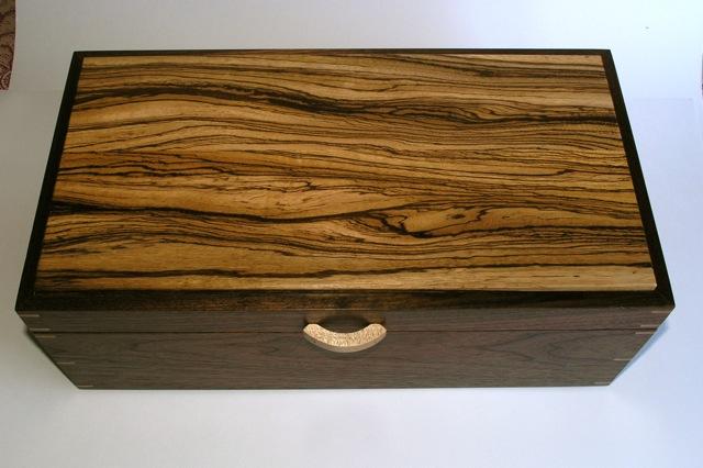 zebrawood and walnut jewelry box finewoodworking