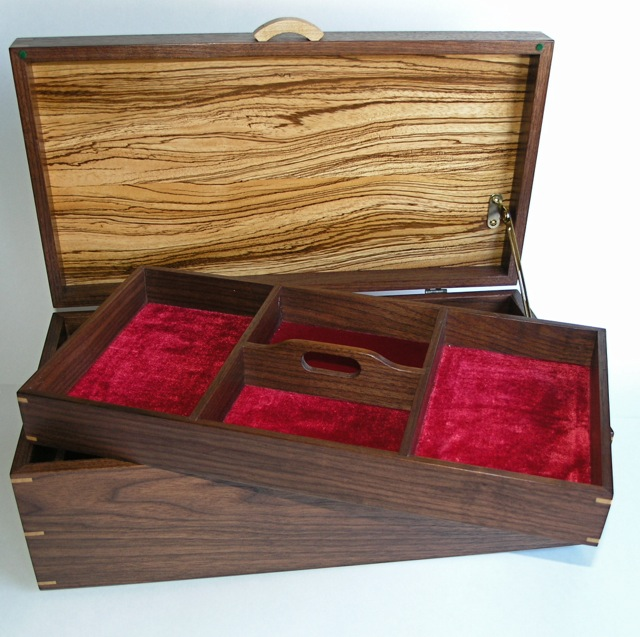 Zebrawood and Walnut Jewelry Box FineWoodworking