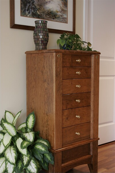 Cherry Jewelry Armoire FineWoodworking