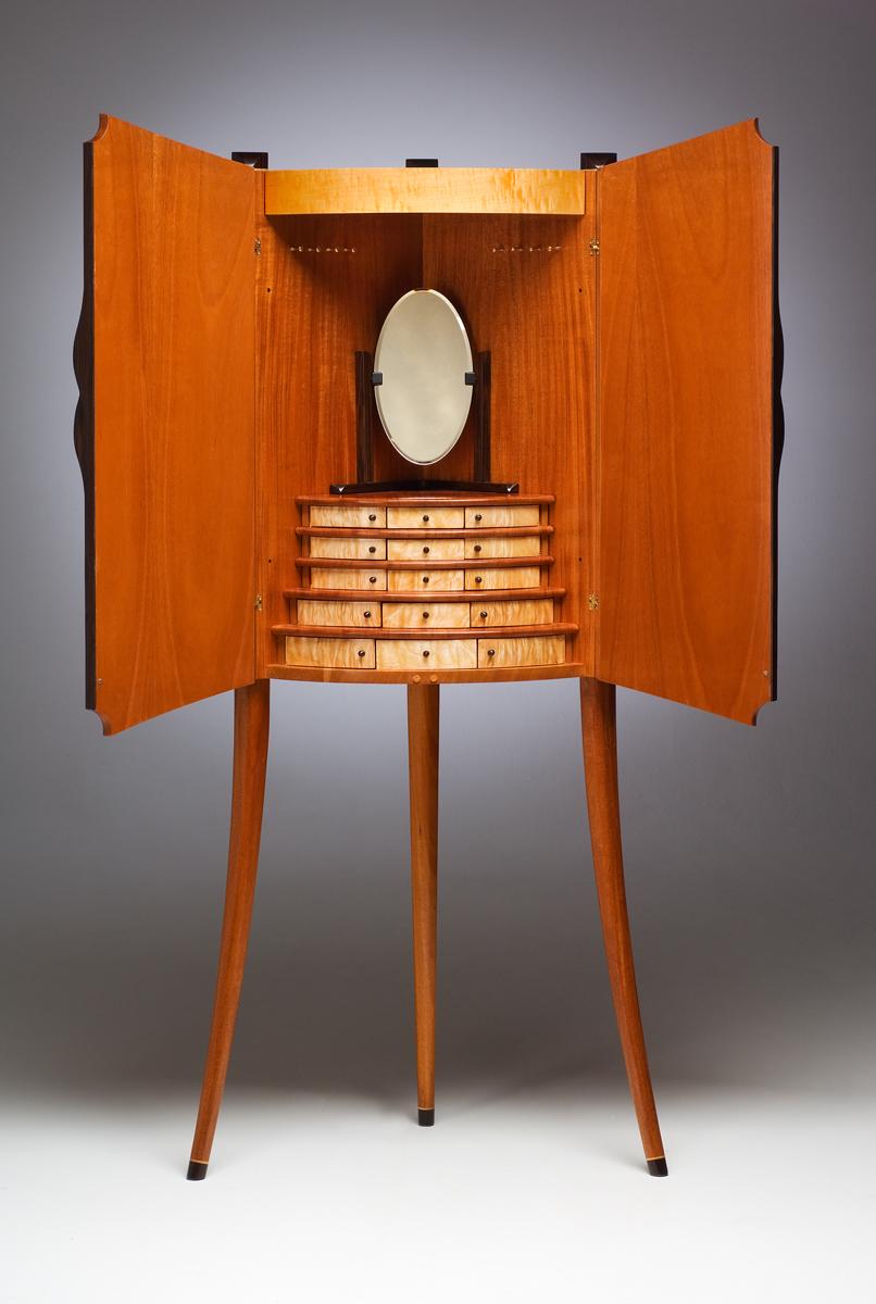 Corner Jewelry Cabinet