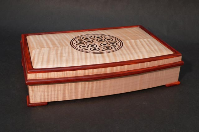 Jewelry Box in Curly Maple and Padauk FineWoodworking