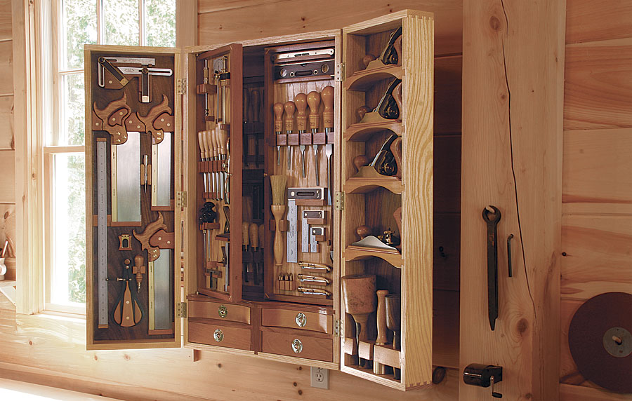 wall tool cabinet there s a woodworking storage in this tool chest 28111