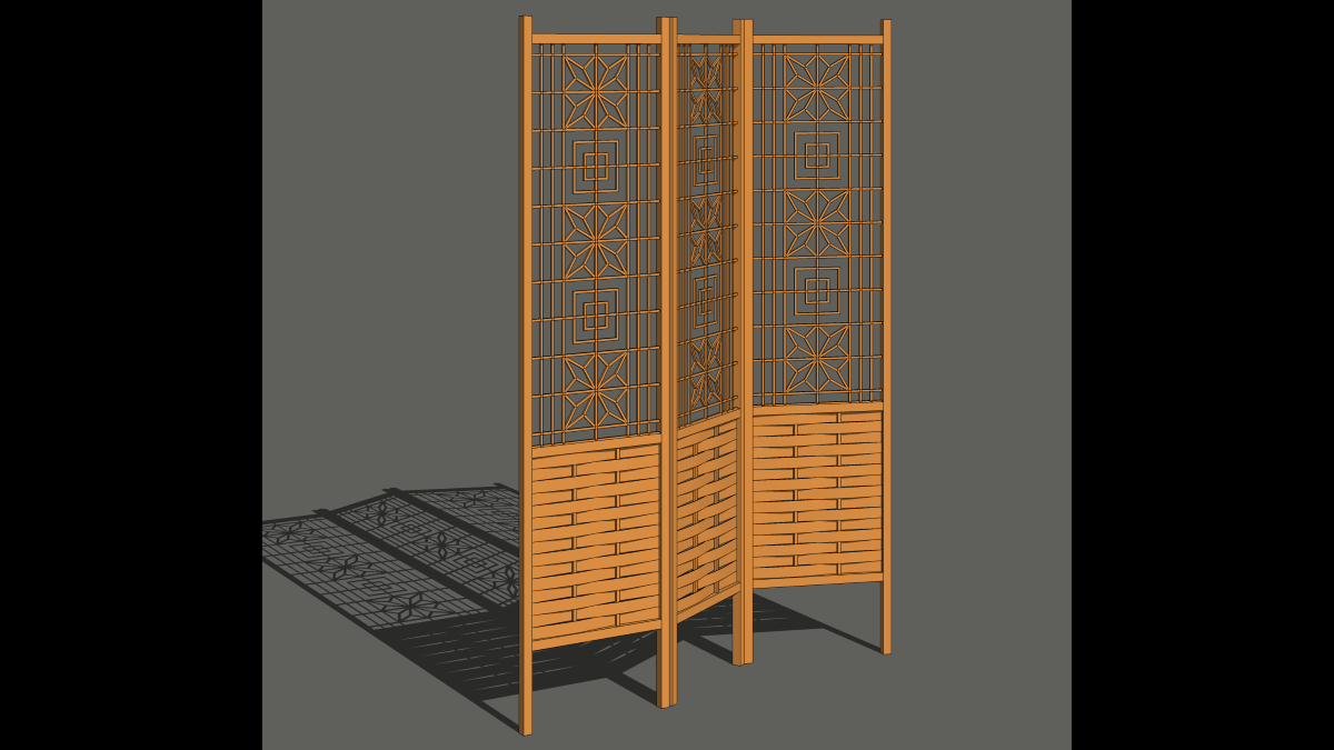 Draw Woven Slats for a Room Divider Screen - FineWoodworking