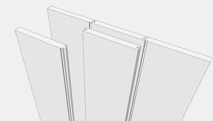 Top View Door Components