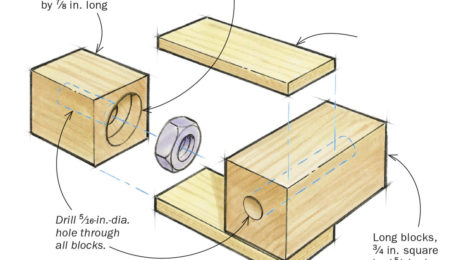 Shopmade corner clamps for boxes