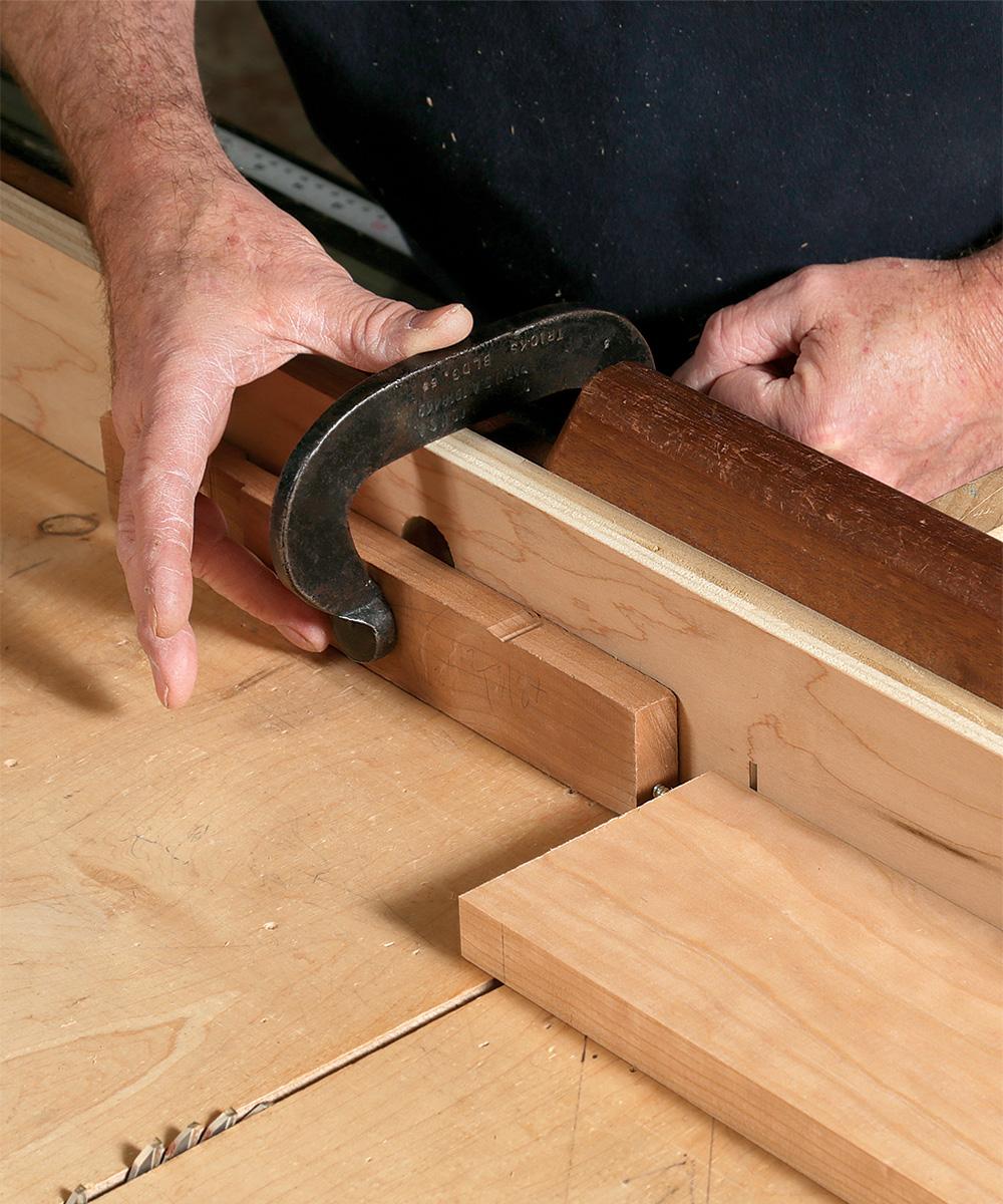 stop block with screw