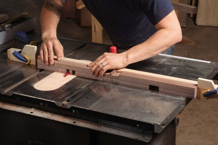 cut pieces on tablesaw