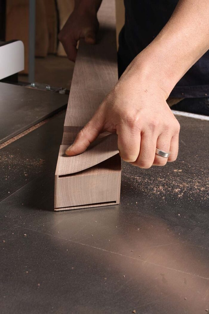 Snap off the thin waste and clean up with a block plane.