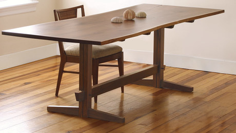 Woodworking projects and plans finewoodworking a fresh take on the trestle table malvernweather Images