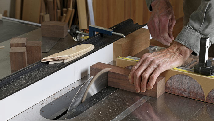After milling sticks square, use the tablesaw to cut all the parts to length.