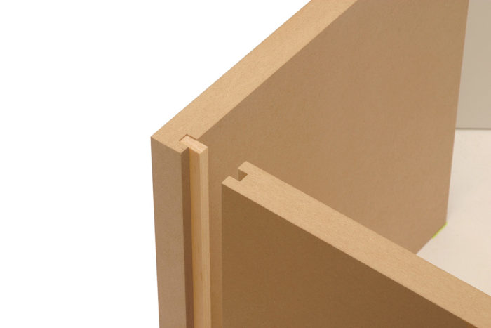Diy mdf furniture High End Splines Are Little Stronger They Align Corner Joints Perfectly And When Clamped With Enough Glue They Dont Need Screws Or Nails Fine Woodworking Building With Mdf Finewoodworking