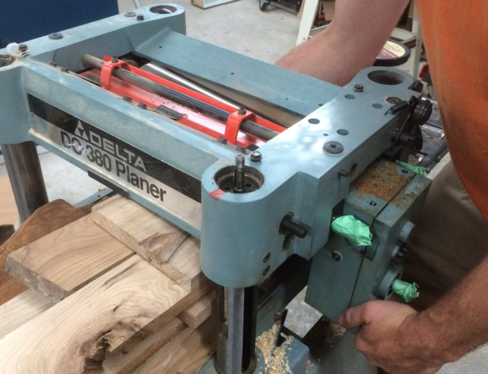 how to change cutter head bearings on a atlas jointer