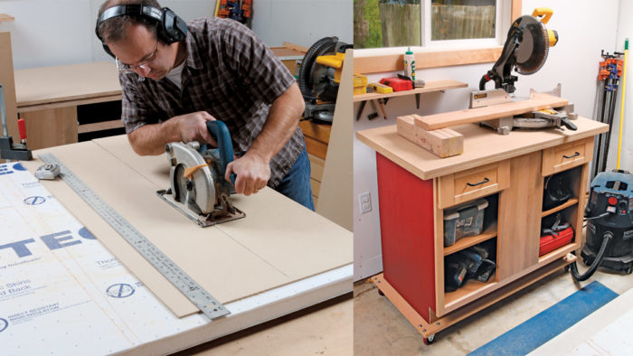 Turn a Reclaimed Cabinet into a Rolling Workstation