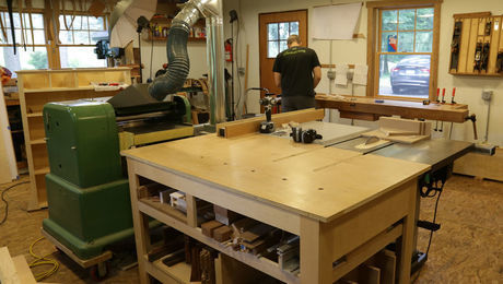 Machine Layout In A Midsize Shop Finewoodworking
