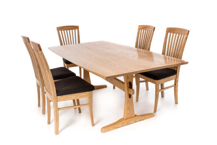 Groovy Ash Dining Table And Chairs Finewoodworking Download Free Architecture Designs Rallybritishbridgeorg