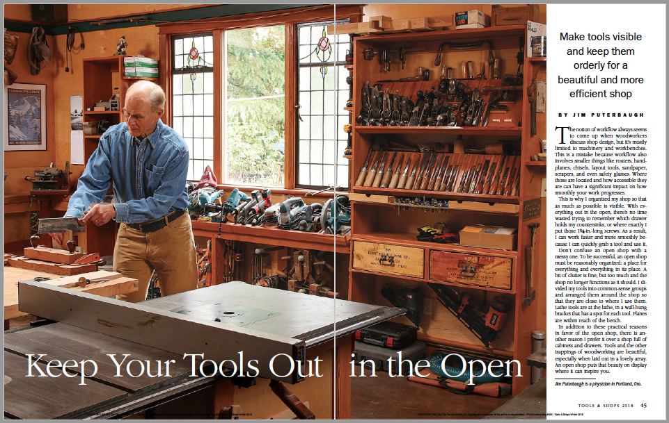Open Workshop Storage For Hand Tool and Power Tools