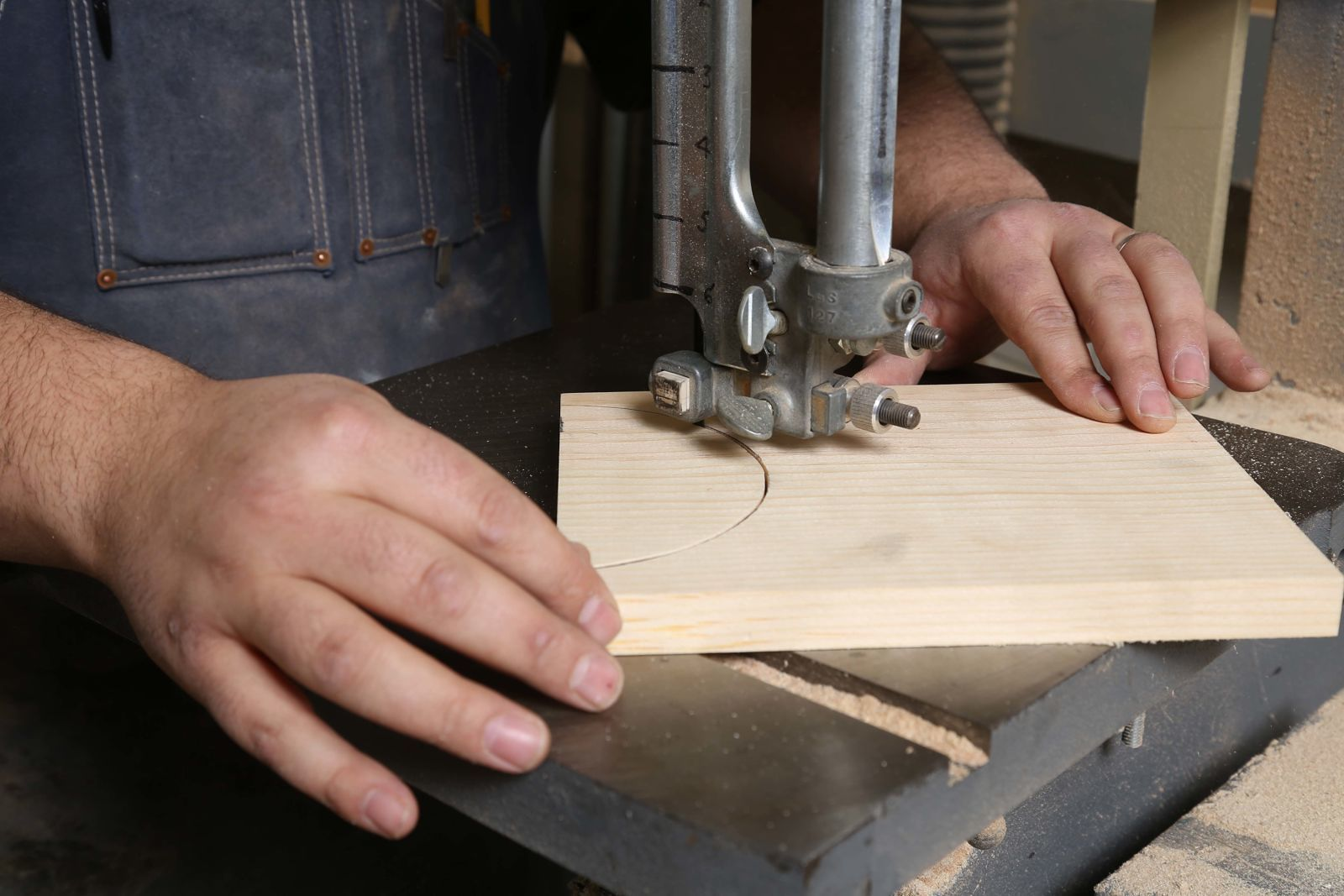 use bandsaw to cut out the pieces
